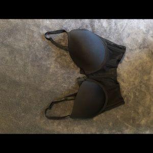 Black corset push up bra